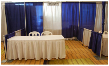 pipe and drape-Trade Show Booth