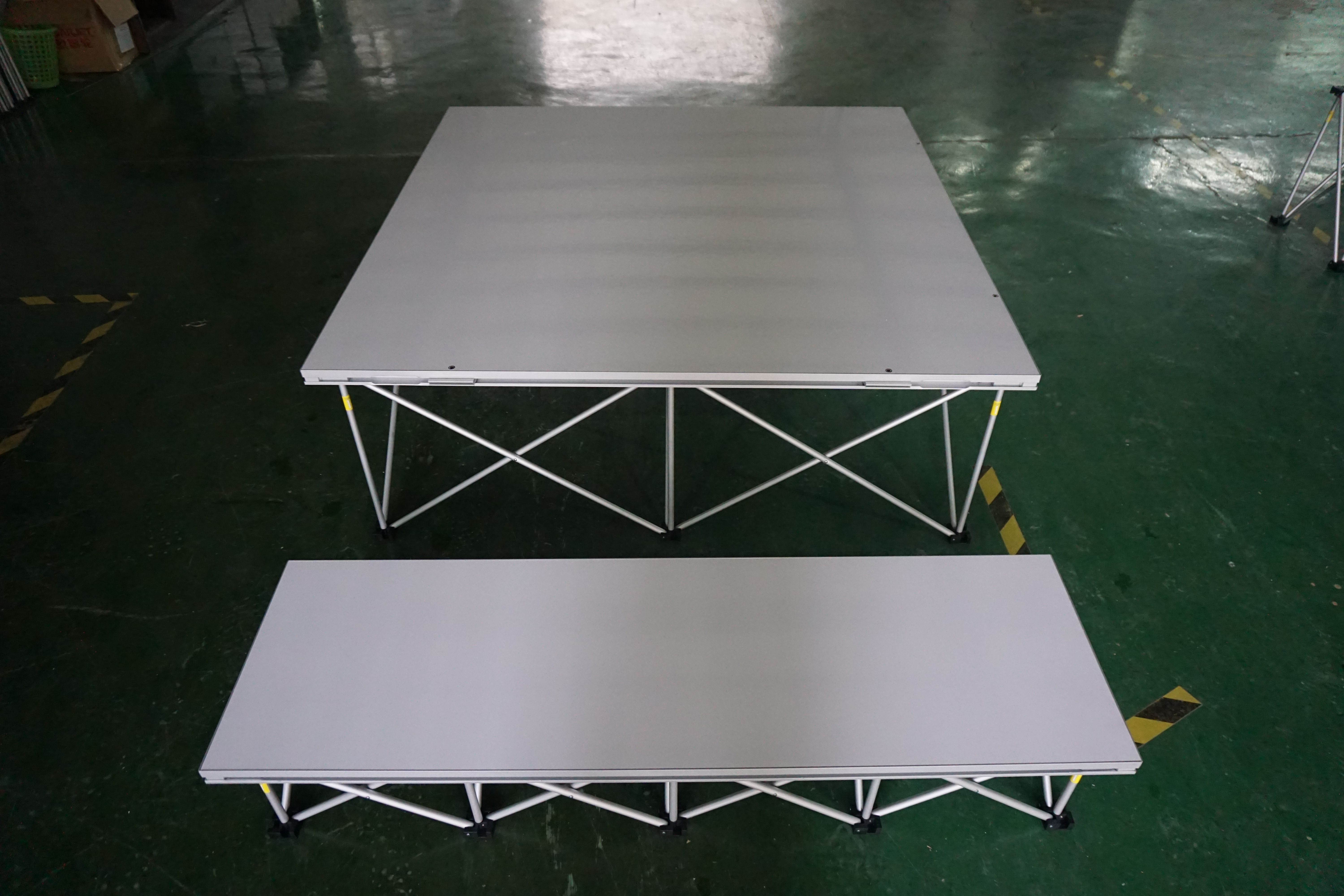RK custom portable stage and white surface