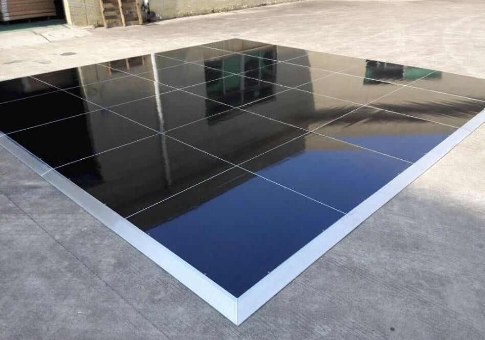 High gloss black dance floor --Interlock system ,no holes or joints on surface .