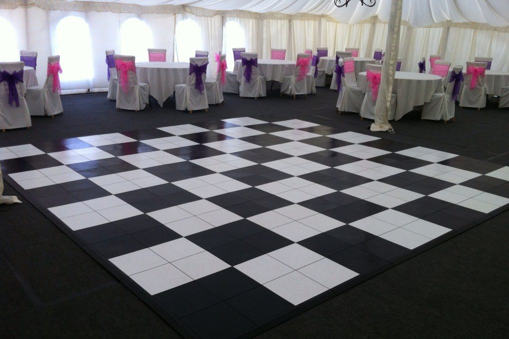 pvc black and white dance floor