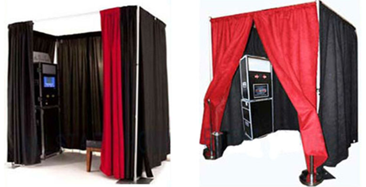 pipe and drape photo booth package