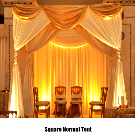 pipe and drape wedding tent wedding mandap