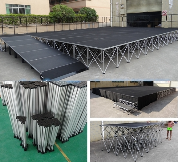smart portable stage system