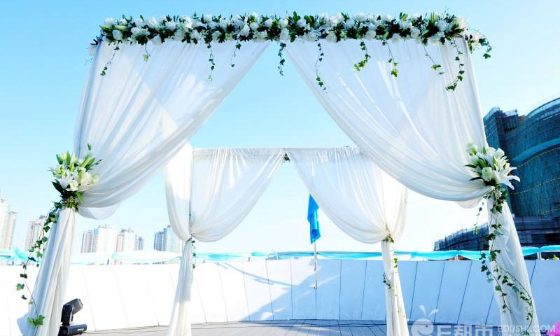 pipe and drape wedding tent