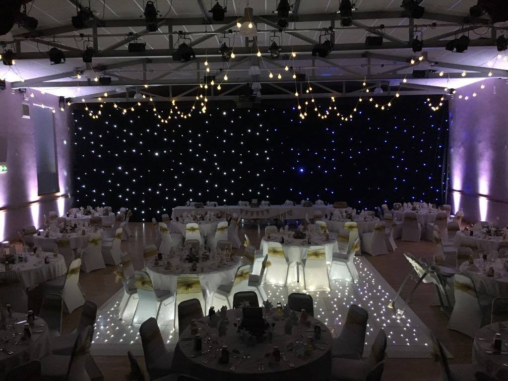 led star curtain and led dance floors use for wedding venue