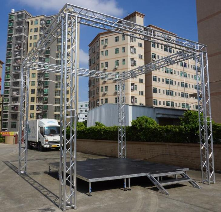 portable alloy beyond stage and aluminum stage truss system