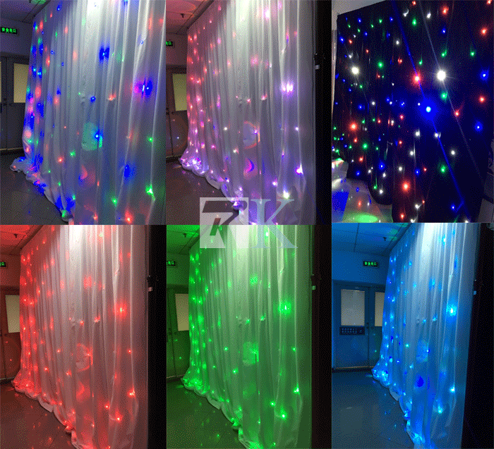 pipe and drape booth led star curtain