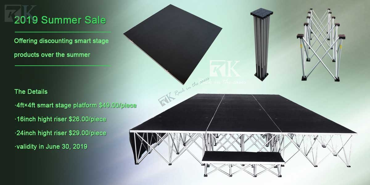 2019 Summer Sale - Smart stage with riser for sale